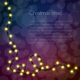 Julmall för lyckönskan med girlanden Royaltyfri Fotografi
