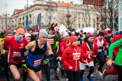 Julmaraton i Vilnius Arkivfoto