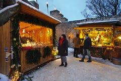 Julmarknad royaltyfria bilder