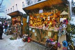 Julmarknad arkivfoto