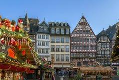 Julmarknad, Frankfurt Arkivbilder