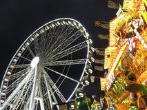 Julmarknad Hyde Park London England Fotografering för Bildbyråer