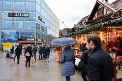 Julmarknad i Berlin nära Alexanderplatz Royaltyfri Foto