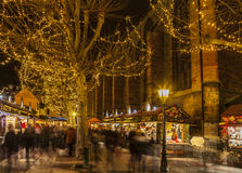 Julmarknad i Colmar Royaltyfri Fotografi