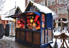 Julmarknad i Dusseldorf Royaltyfri Bild