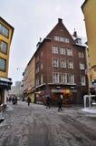 Julmarknad i Dusseldorf Arkivfoton