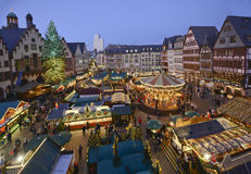 Julmarknad i Frankfurt, Tyskland Fotografering för Bildbyråer