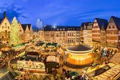 Julmarknad i Frankfurt, Tyskland Royaltyfria Foton