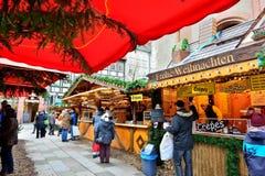 Julmarknad i Gottingen Fotografering för Bildbyråer