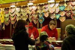 Julmarknad i historisk mitt av Leipzig Arkivbilder