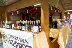 Julmarknad i Italien Arkivbild