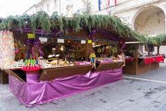 Julmarknad i Italien Royaltyfria Foton