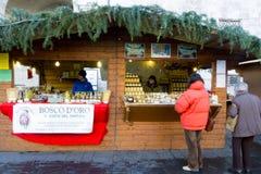 Julmarknad i Italien Royaltyfri Fotografi