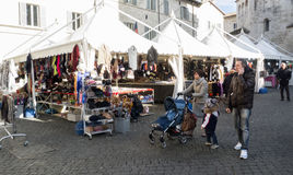 Julmarknad i Italien Arkivbilder