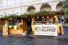 Julmarknad i Italien Arkivfoton