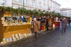 Julmarknad i Italien Fotografering för Bildbyråer