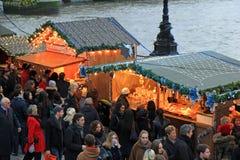 Julmarknad i London Arkivfoto
