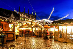 Julmarknad i Lubeck, Tyskland Royaltyfri Fotografi