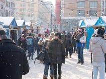 Julmarknad i Montreal, Kanada Royaltyfri Bild