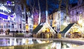 Julmarknad i Varna Arkivbilder