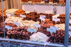 Julmarknad i Wien Österrike Arkivfoto