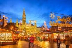 Julmarknad i Wien Royaltyfria Bilder