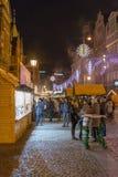 Julmarknad i Wroclaw, Polen Arkivfoto