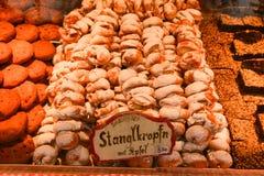 Julmarknad på Rathausplatz i Wien, Österrike royaltyfria foton