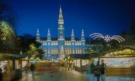 Julmarknad, Wien, Österrike royaltyfri fotografi