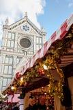 Julmarknader i Florence Arkivfoto