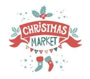 Julmarknadsillustration stock illustrationer