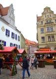JulmarknadsMeissen Tyskland Arkivfoton