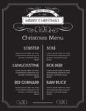 Julmatmeny på kritabräde Jul royaltyfri illustrationer
