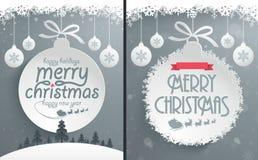 Julmeddelandedesign royaltyfri illustrationer