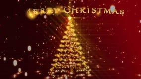 Julmontage med röd och guld- inledning lager videofilmer