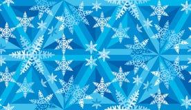 Julmosaikmodell av Snowflakes_09 Arkivbilder