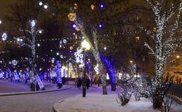 JulMoskva Fotografering för Bildbyråer