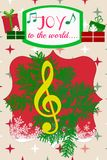 Julmusik… Joy To The World Royaltyfri Bild