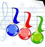Julmusik stock illustrationer