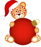 Julnallebjörn med den glass bollen Royaltyfri Fotografi