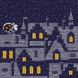 Julnatt royaltyfri illustrationer