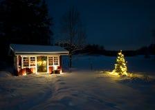 Julnatt Arkivfoton