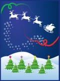 julnatt vektor illustrationer