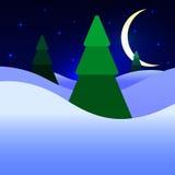 Julnatt Royaltyfria Bilder