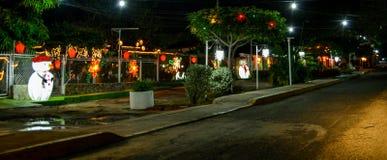 Julnatt på maracaibo arkivfoto