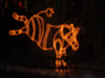 Julnatt på zoo Royaltyfri Foto