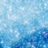 Julnatthimmel, stjärnor i suddigheten 10 Arkivfoto