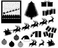 Julobjekt och händelser Stock Illustrationer