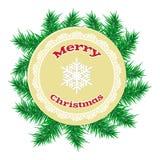 Julpappersboll över prydlig branche Royaltyfri Fotografi