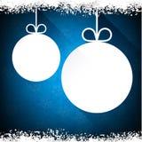 Julpappersbollar på blå bakgrund Royaltyfria Foton